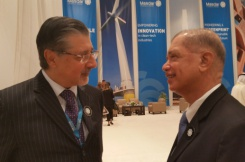 Former President Michel joins world leaders for renewable energy talks at World Future Energy Summit 2017