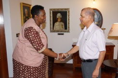 President Meets with AU Election Observer Mission- first all-female team