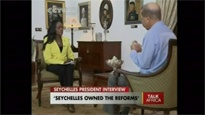 Seychelles President James Michel on Talk Africa CCTV with Beatrice Marshall