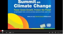 President's statement for 2009 UN Climate Change Summit